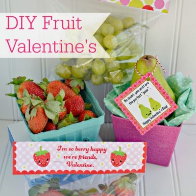 Non-Candy Fruit Valentine's with 60+ DIY Valentine Ideas