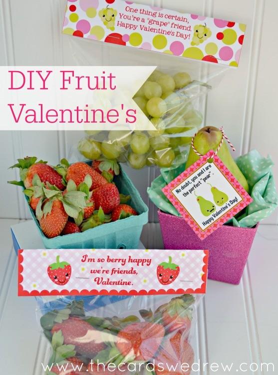 Non Candy Fruit Valentine 39 S With 60 Diy Valentine Ideas