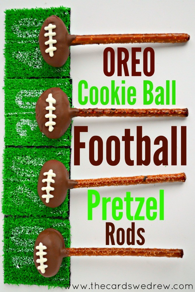 OREO Cookie Ball Football Pretzel Rods #OREOCookieballs #ad
