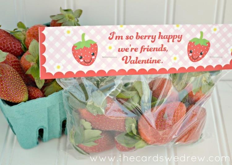 Strawberry non candy Valentine