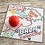 EOS Lip Balm Valentine and Free Print
