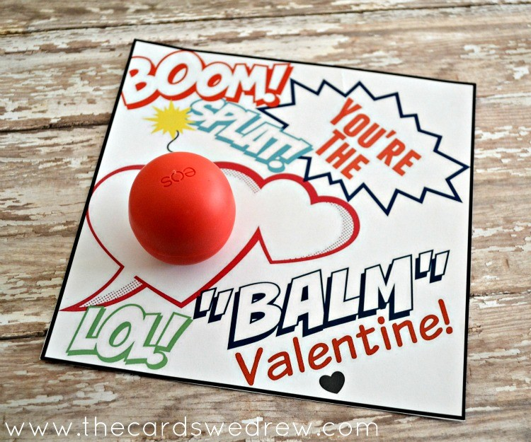 Superhero You're the BALM Valentine Free Print