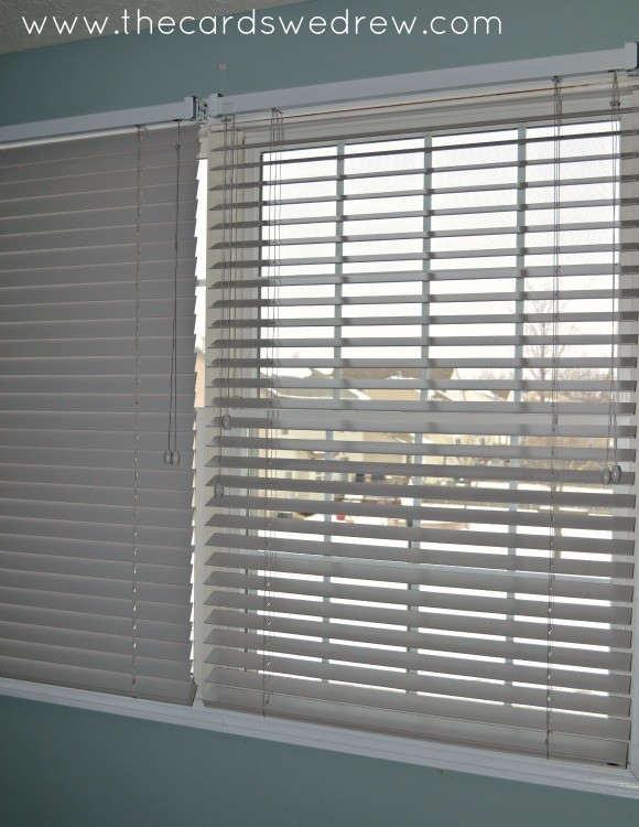gray wood blinds