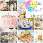 Confetti Themed Desserts