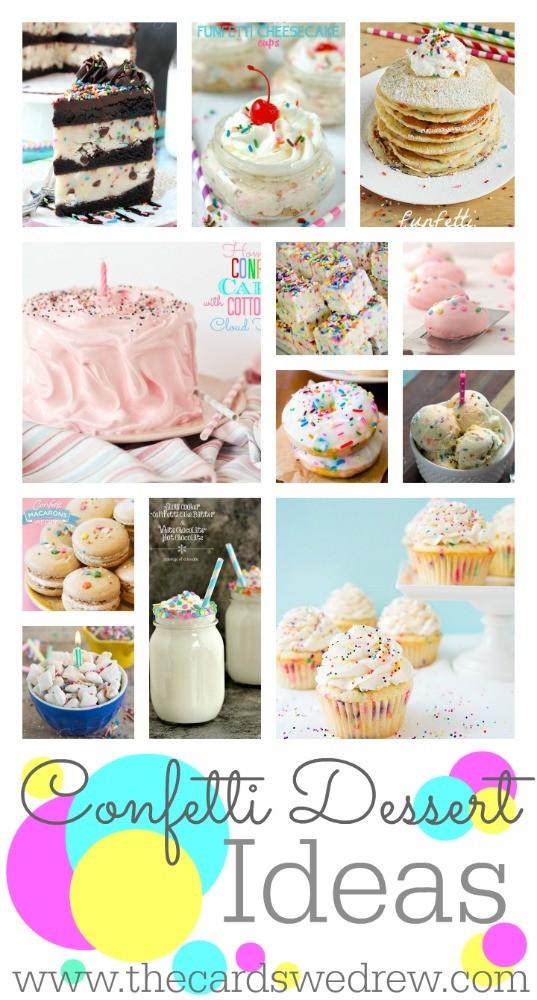 Confetti Dessert Ideas