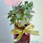 Mason Jar Succulent Gift Idea for Valentine's Day