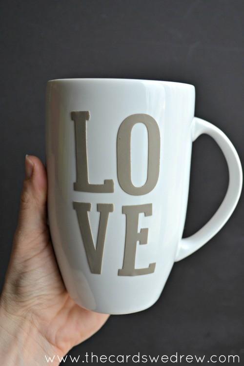 LOVE Mug with stencils