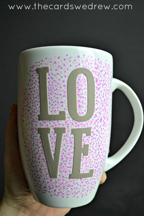 LOVE sharpie mug