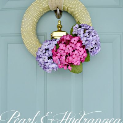 Pearl and Hydrangea Spring Wreath