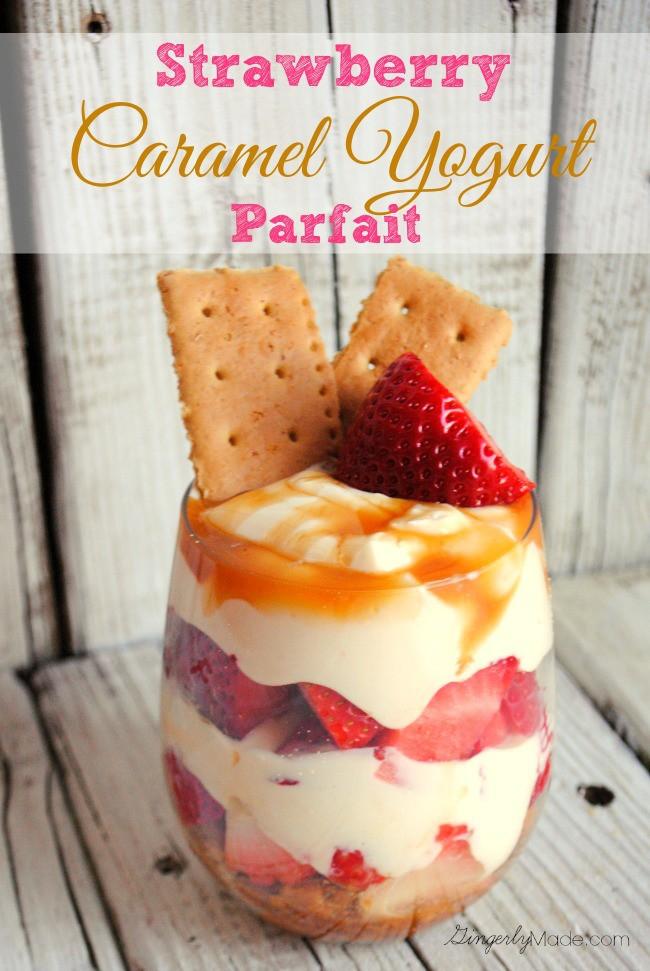 Strawberry-Caramel-Yogurt-Parfait