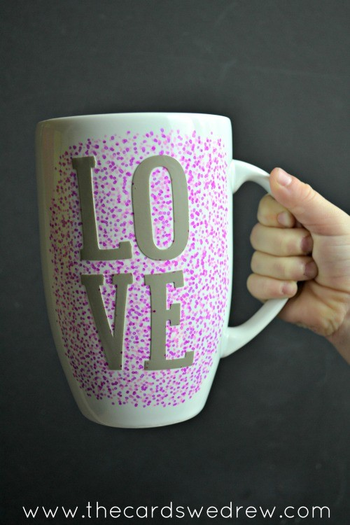 dotted mug with sharpie
