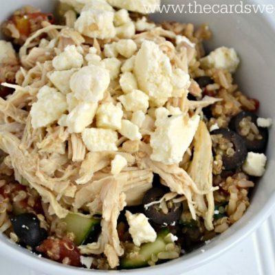 Mediterranean Quinoa Chicken Bowls