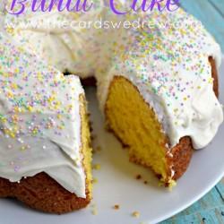 Lemon Cream Bundt Cake from The Cards We Drew