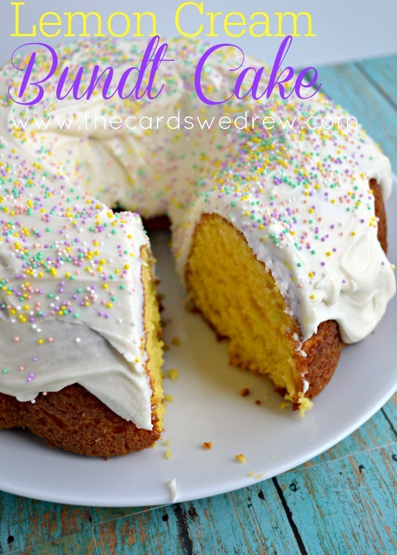 Lemon Cream Bundt Cake from The Cards We Drew