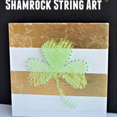 St. Patrick's Day Shamrock String Art