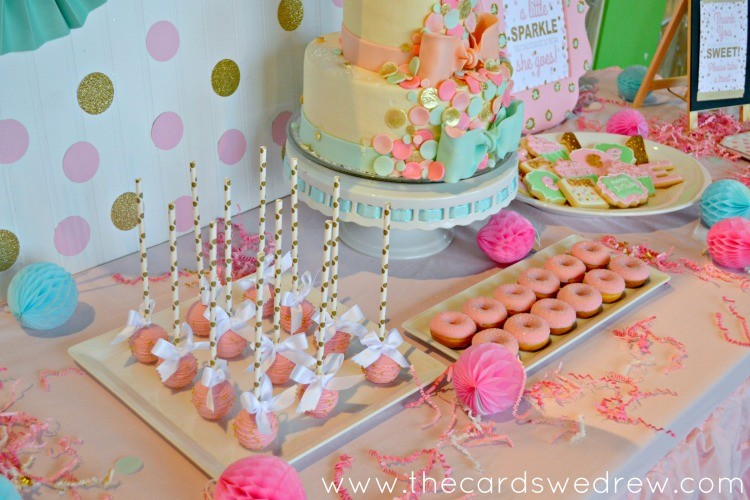 Beau Gold And Pink Dessert Table