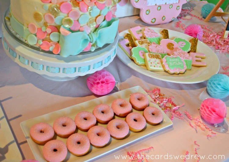 mint and pink birthday