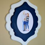 Hand Drawn Family Photo & Frame {Giveaway}