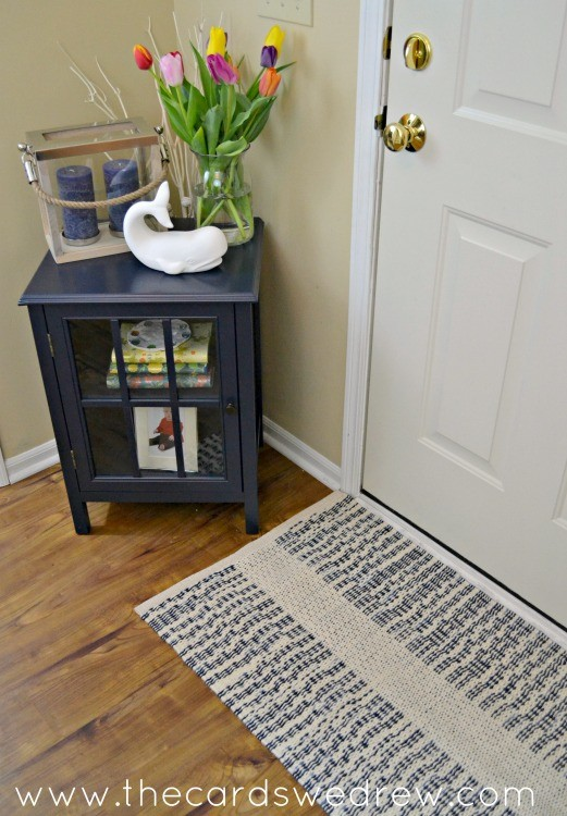 navy blue front entryway