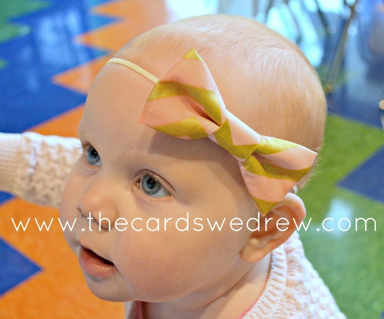 pink and gold bow from NBrynn Designs