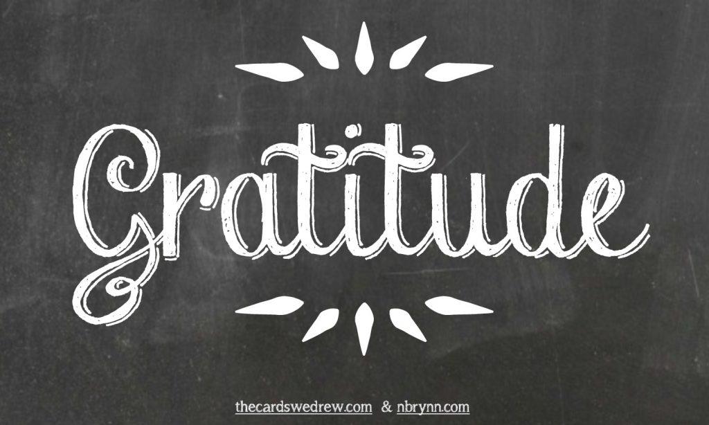 Gratitude chalk art