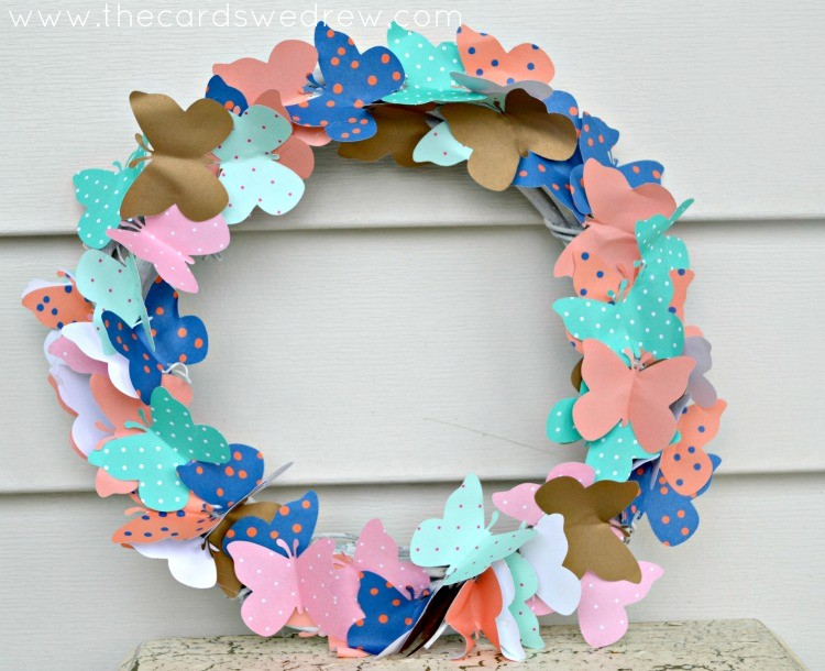 Swarming Butterfly Wreath