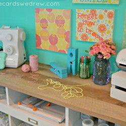 bright and colorful craft room storage