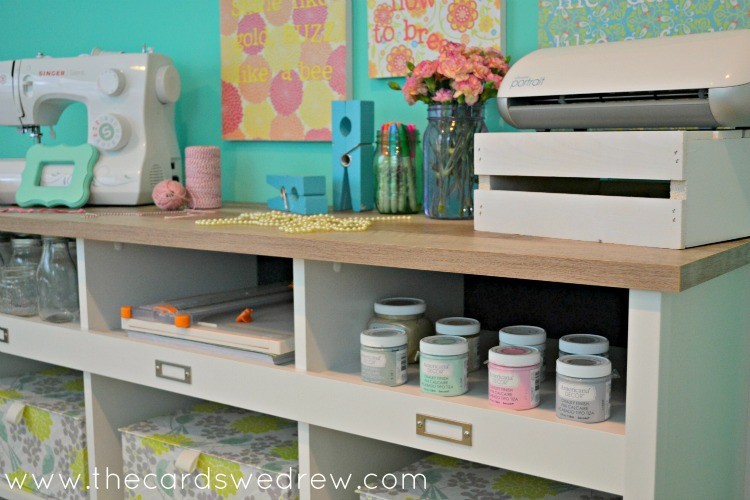 craft room credenza storage