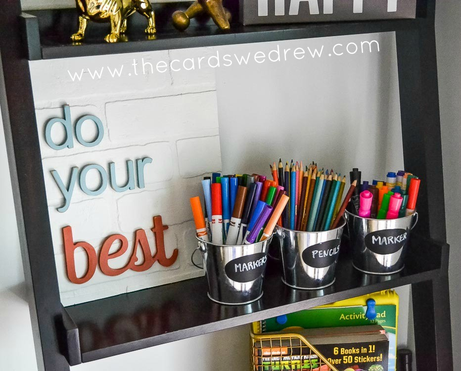 kids marker and crayon storage
