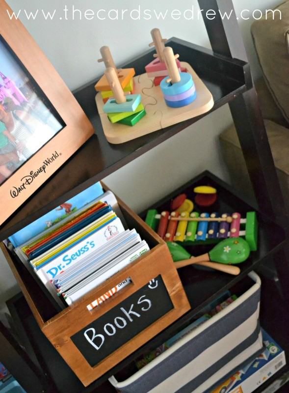 playroom book storage