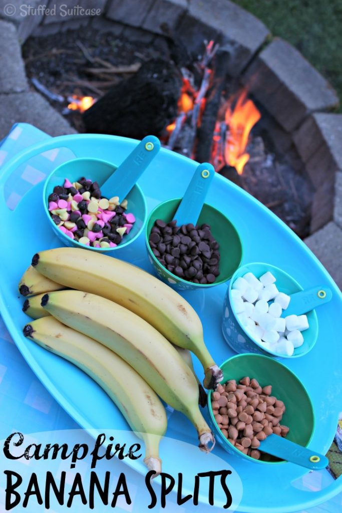 Campfire Banana Splits from Stuffed Suitcase