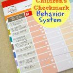 Easy Children's Checkmark Behavior System