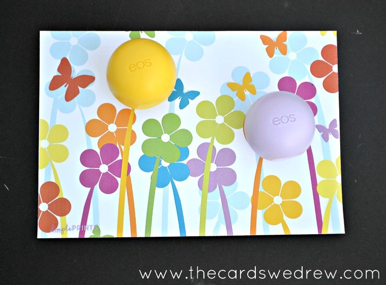 Flower Power EOS Lip Balm Printable