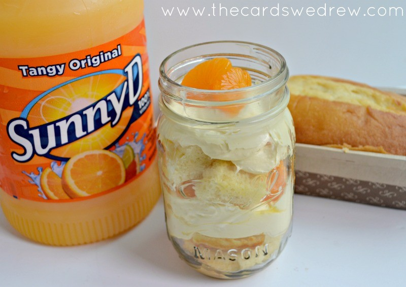 Orange Creamsicle Shortcake in a jar