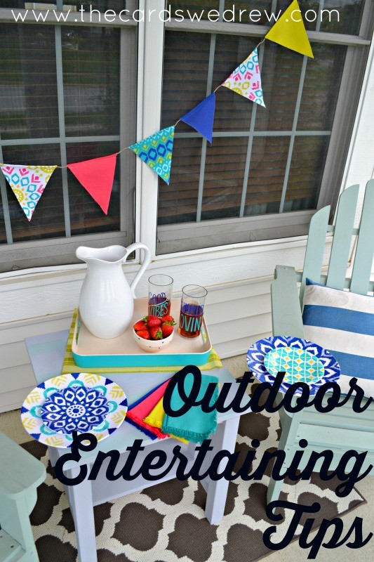 Outdoor Entertaining Tips from The Cards We Drew