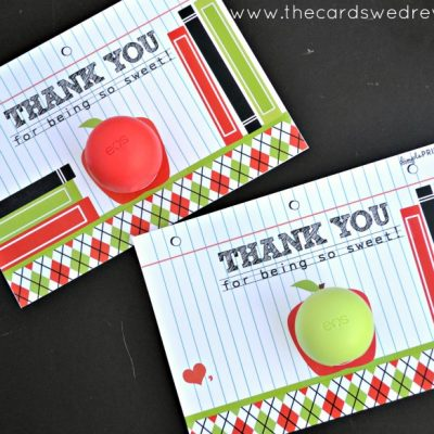 Teacher Appreciation EOS Lip Balm Prints