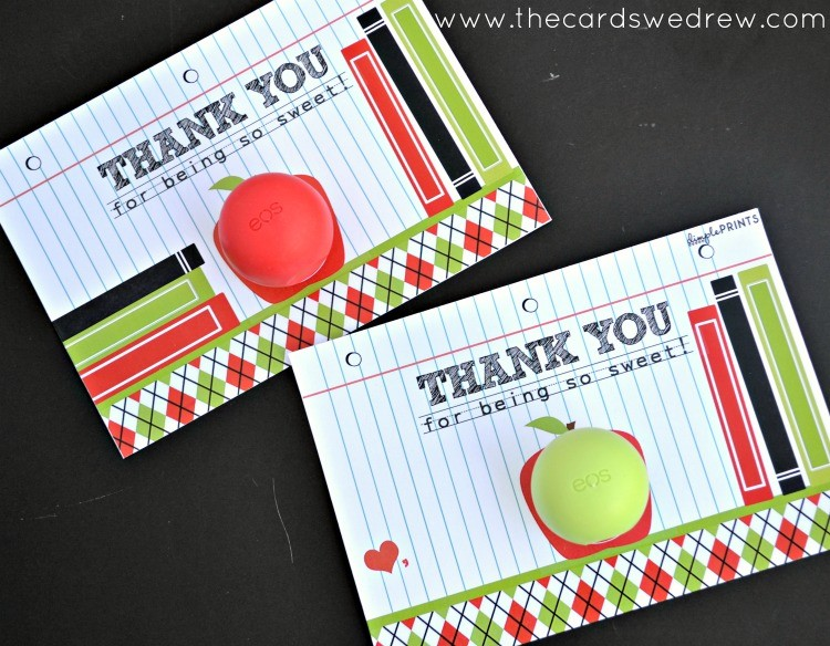 Teacher's Appreciation EOS Lip Balm Prints