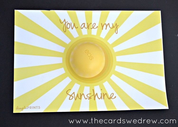 You Are My Sunshine EOS Lip Balm Printable