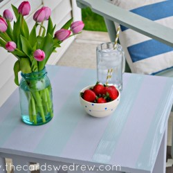 chalk paint striped table