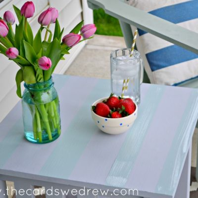 DIY Chalky Finish Outdoor Table Makeover