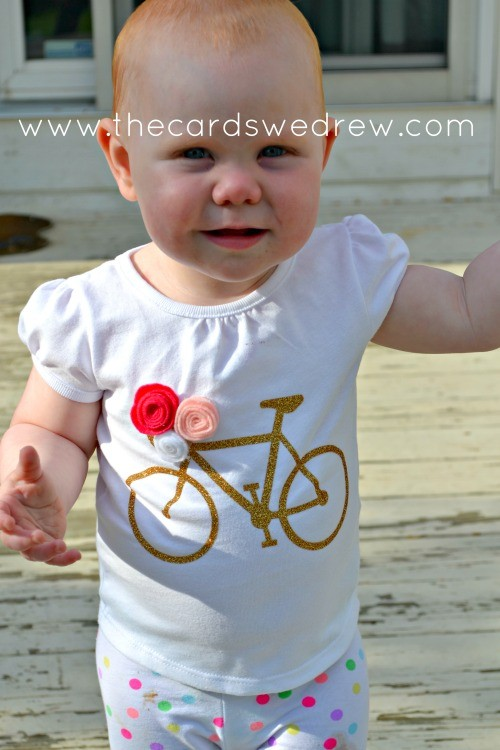 girl's bike tshirt