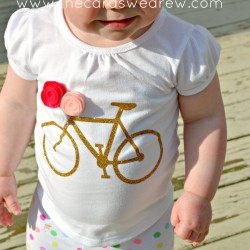 gold bike girl's shirt