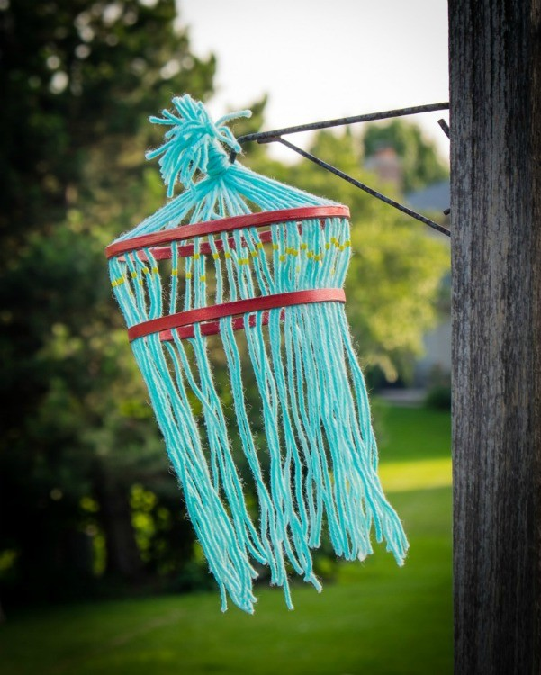 kids yarn chandelier