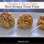 Chocolate & Peanut Butter Rice Krispy Treat Pops