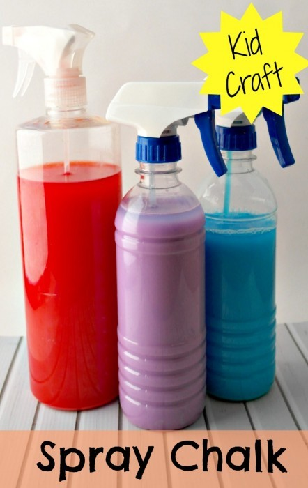 spray chalk kids craft