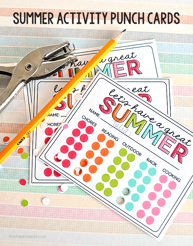 summerpunchcard30days