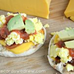 English Muffin Mexican Breakfast Pizzas