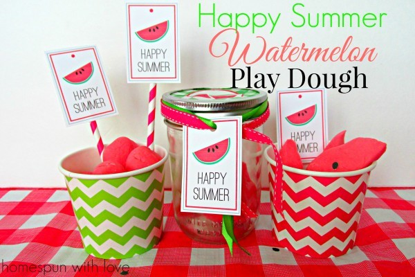 watermelon playdough