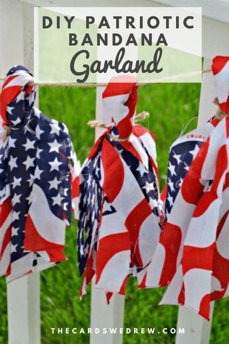 DIY Patriotic Bandana Garland