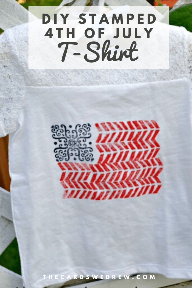 DIY Stamped Fourth of July T-Shirt